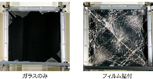 ガラス飛散防止効果